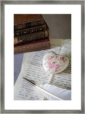 Love Letter Framed Print by Joana Kruse