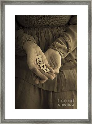 Love Letters Framed Print