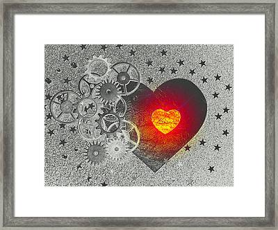Love Makes It Work Framed Print