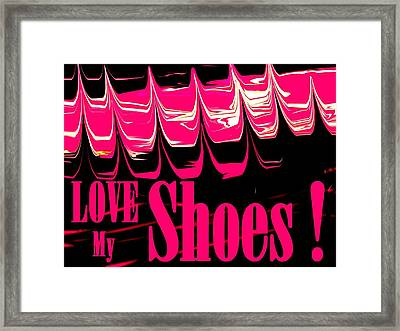 Love My Shoes  Number 3 Framed Print by Diane Strain