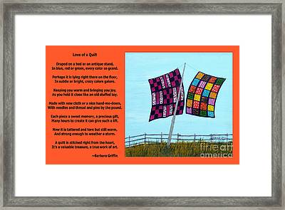 Love Of A Quilt  Framed Print