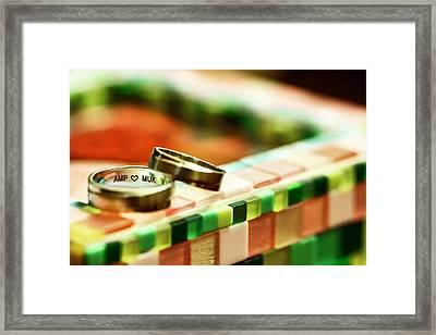 Love On Mosaic Framed Print