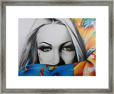 Portrait - ' Love Rainbow ' Framed Print