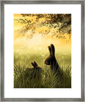 Love Framed Print by Veronica Minozzi