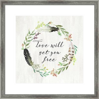 Love Will Set You Free Framed Print by Tara Moss