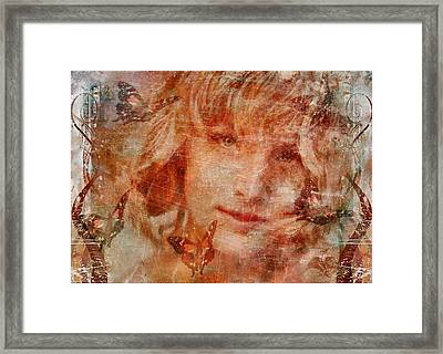 Loved By Butterflies Framed Print by Gun Legler