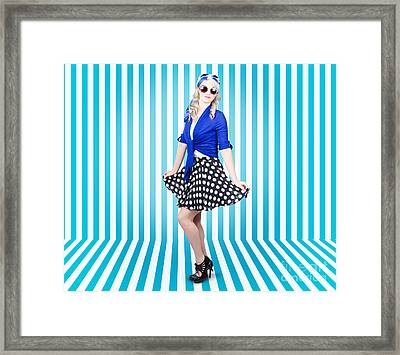Lovely And Graceful Pin-up Girl In Retro Fashion Framed Print by Jorgo Photography - Wall Art Gallery