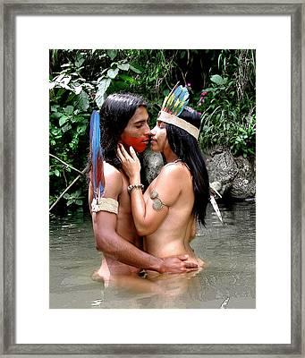 Loves First Whisper Framed Print by Koa Feliciano