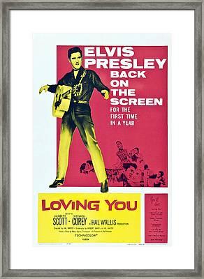 Loving You, Elvis Presley, 1957 Framed Print
