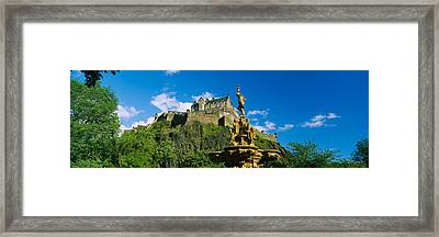 Low Angle View Of A Castle, Edinburgh Framed Print by Panoramic Images