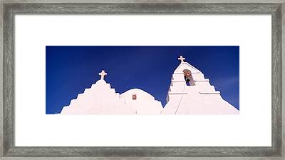 Low Angle View Of A Church, Mykonos Framed Print by Panoramic Images