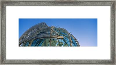 Low Angle View Of A City Hall, Downtown Framed Print
