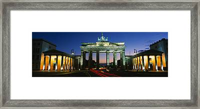 Low Angle View Of A Gate, Brandenburg Framed Print
