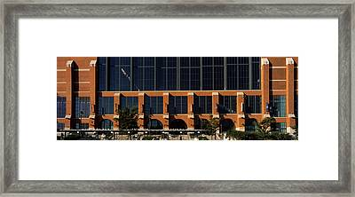 Low Angle View Of A Stadium, Lucas Oil Framed Print