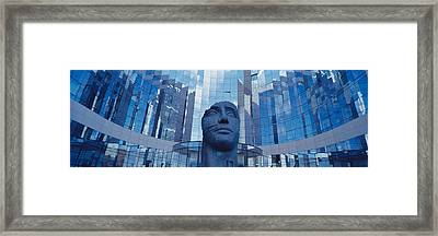 Low Angle View Of A Statue In Front Of Framed Print