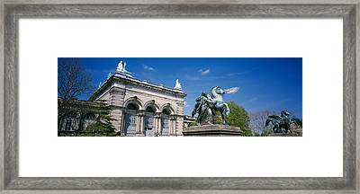 Low Angle View Of A Statue In Front Framed Print