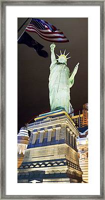Low Angle View Of A Statue, Statue Framed Print