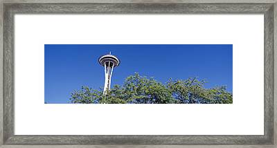 Low Angle View Of A Tower, Space Framed Print by Panoramic Images