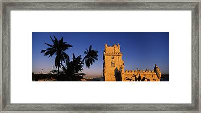 Low Angle View Of A Tower, Torre De Framed Print