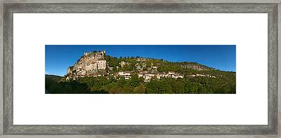 Low Angle View Of A Town On A Hill Framed Print by Panoramic Images