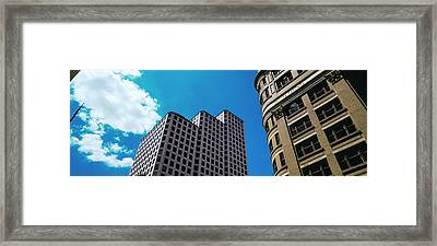 Low Angle View Of Buildings In Austin Framed Print by Panoramic Images