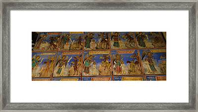 Low Angle View Of Fresco On The Walls Framed Print by Panoramic Images