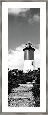 Low Angle View Of Nauset Lighthouse Framed Print