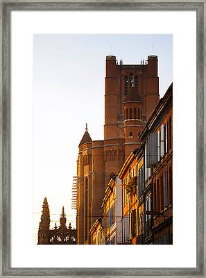 Low Angle View Of Old Town Buildings Framed Print by Panoramic Images