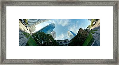 Low Angle View Of Skyscrapers, Houston Framed Print