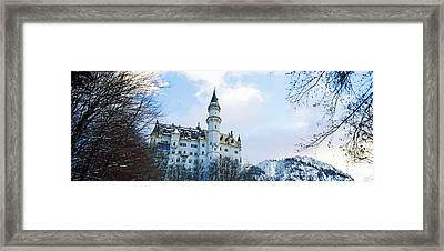 Low Angle View Of The Neuschwanstein Framed Print by Panoramic Images