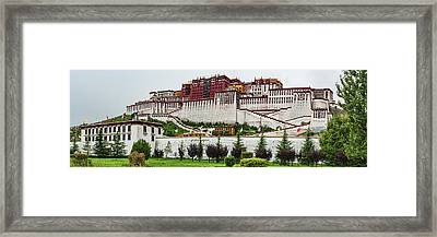 Low Angle View Of The Potala Palace Framed Print by Panoramic Images