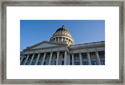 Low Angle View Of The Utah State Framed Print by Panoramic Images