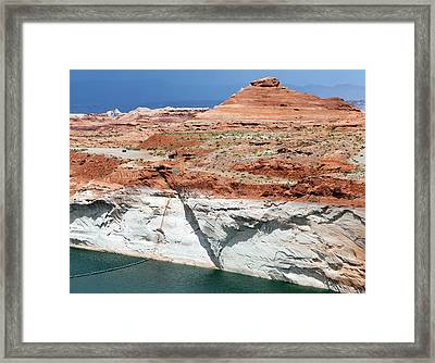 Low Water Levels In Lake Powell Framed Print by Jim West