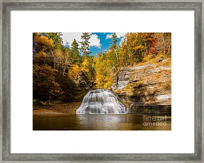 Lower Treman Falls Framed Print