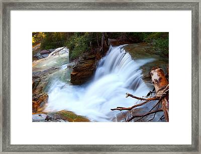 Framed Print featuring the photograph Lower Virginia Cascades by Aaron Whittemore