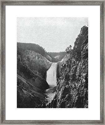 Lower Yellowstone Falls Framed Print by Granger