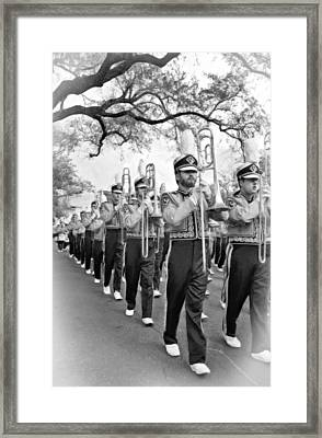 Lsu Marching Band Vignette Framed Print by Steve Harrington