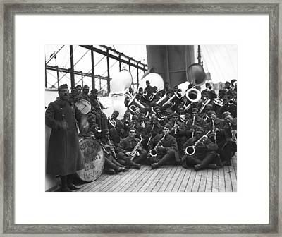 Lt. James Reese Europe's Band Framed Print by Underwood Archives