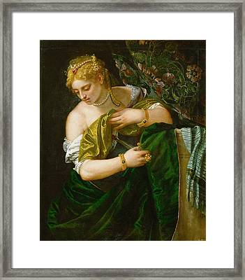 Lucretia Framed Print by Paolo Veronese