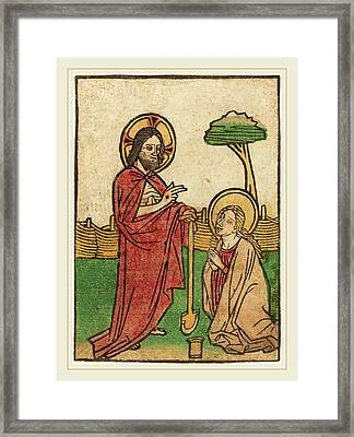 Ludwig Of Ulm German, Active 1450-1470 Framed Print by Litz Collection