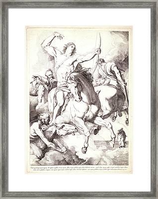 Luigi Sabatelli I Italian, 1772 - 1850. The Four Horsemen Framed Print