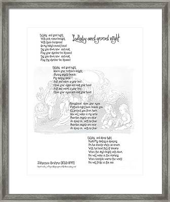 Lullaby And Good Night Framed Print