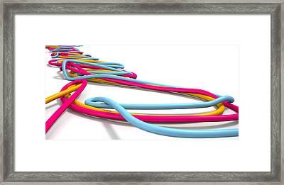 Luminous Cables Closeup Framed Print