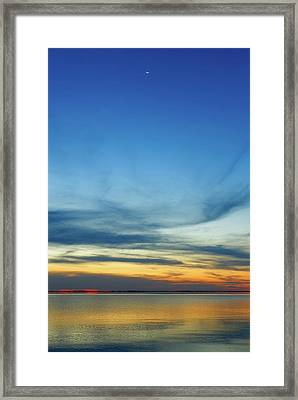 Lunar Occultation Of Venus Framed Print