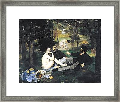 Luncheon On The Grass Framed Print by Edouard Manet