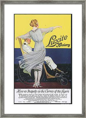 Luxite 1910s Usa Womens Hosiery Framed Print by The Advertising Archives
