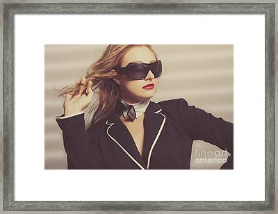 Luxury Fashion Girl In Exclusive Sunglasses Framed Print by Jorgo Photography - Wall Art Gallery