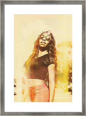 Luxury Female Vanuatuan Modelling Retro Fashion Framed Print by Jorgo Photography - Wall Art Gallery