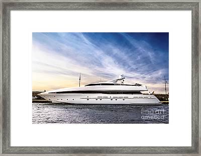 Luxury Yacht Framed Print by Elena Elisseeva