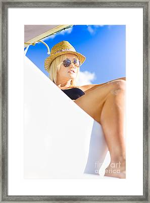 Luxury Yacht Framed Print by Jorgo Photography - Wall Art Gallery